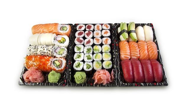 Variété de maki sushi